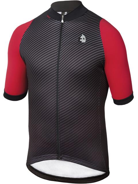 Etxeondo Carbono Kortærmet cykeltrøje Herrer rød/sort